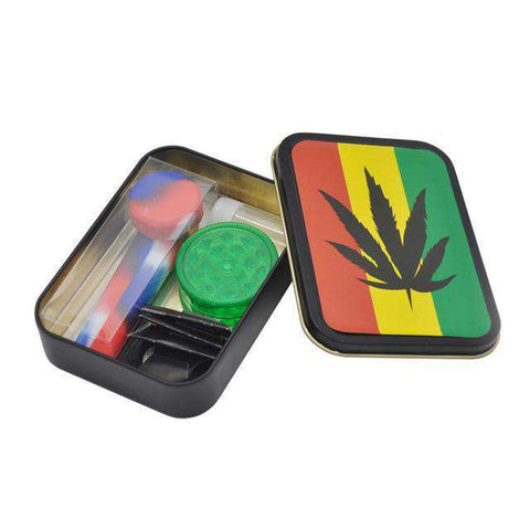 Toker Kit With Case, Silicone Pipe, Grinder, Glass Tip and Screens