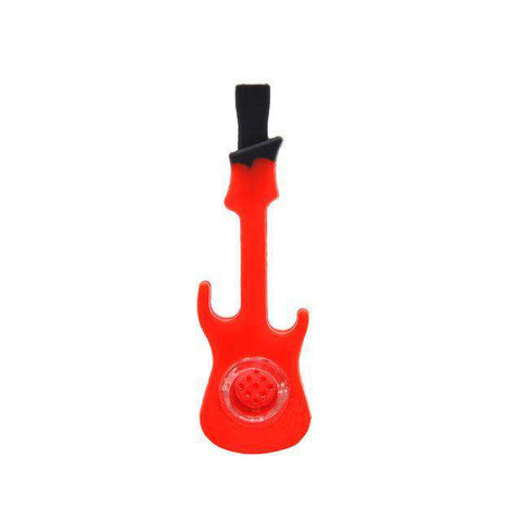 Guitar Shaped Silicone Concentrate Pipe