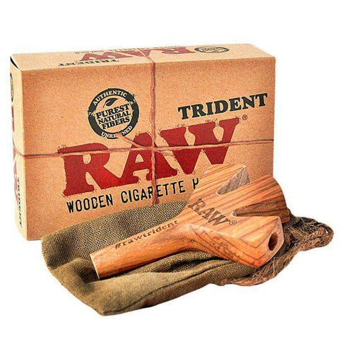 Raw Trident Triple Barrel Wooden Joint Holder