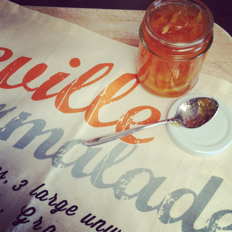 Seville Marmalade Recipe Tea Towel