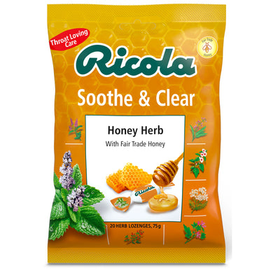 Honey Herb <br>75g naturally soothing<br> throat lozenges bag