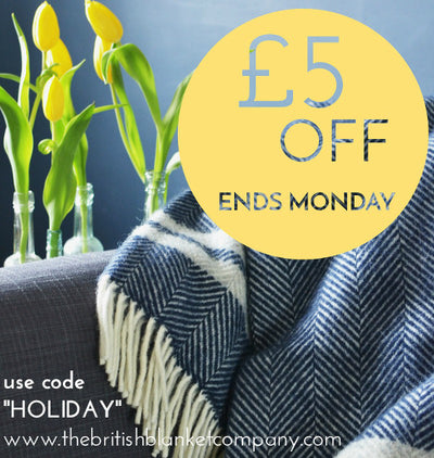 £5 off every throw this Bank Holiday Weekend