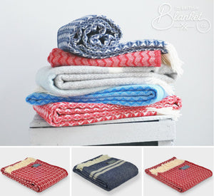 Ahoy there! Nautical throws in classic navy, white and red