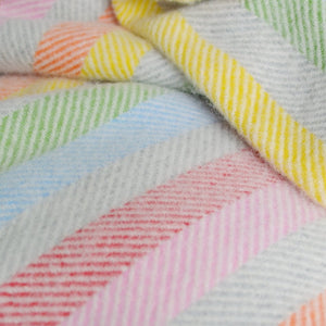 rainbow stripe throw The British Blanket Company