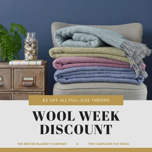 Wool Week 2019: £5 off full-size throws & picnic rugs