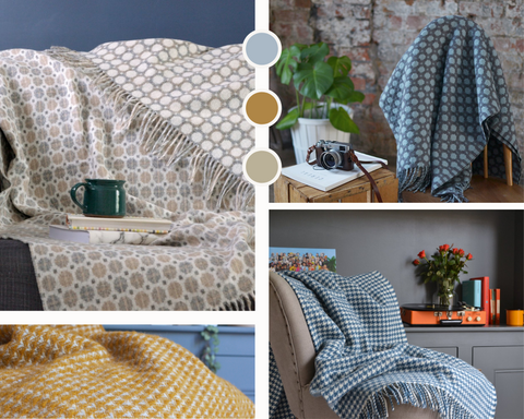 A collage of wool blankets from The British Blanket Company