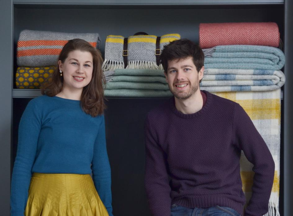 Bethan John and Joe John founders of The British Blanket Company