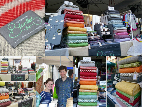 The British Blanket Company stall at The Frome Independent Market