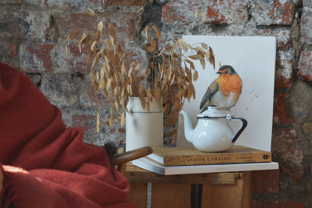 Cosy Christmas Decorations with Robin Print