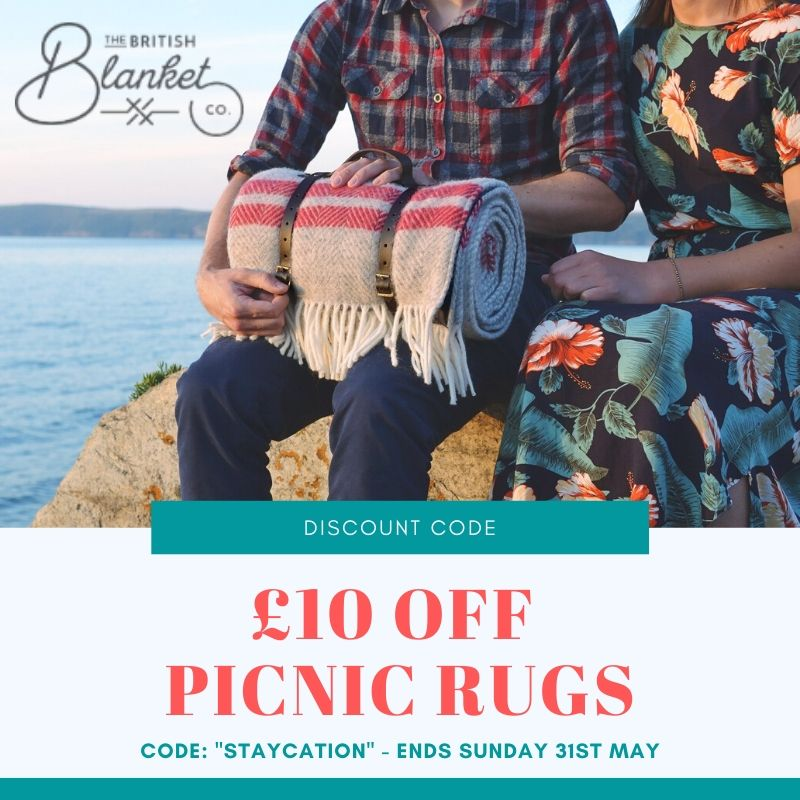 £10 off picnic rugs The British Blanket Co