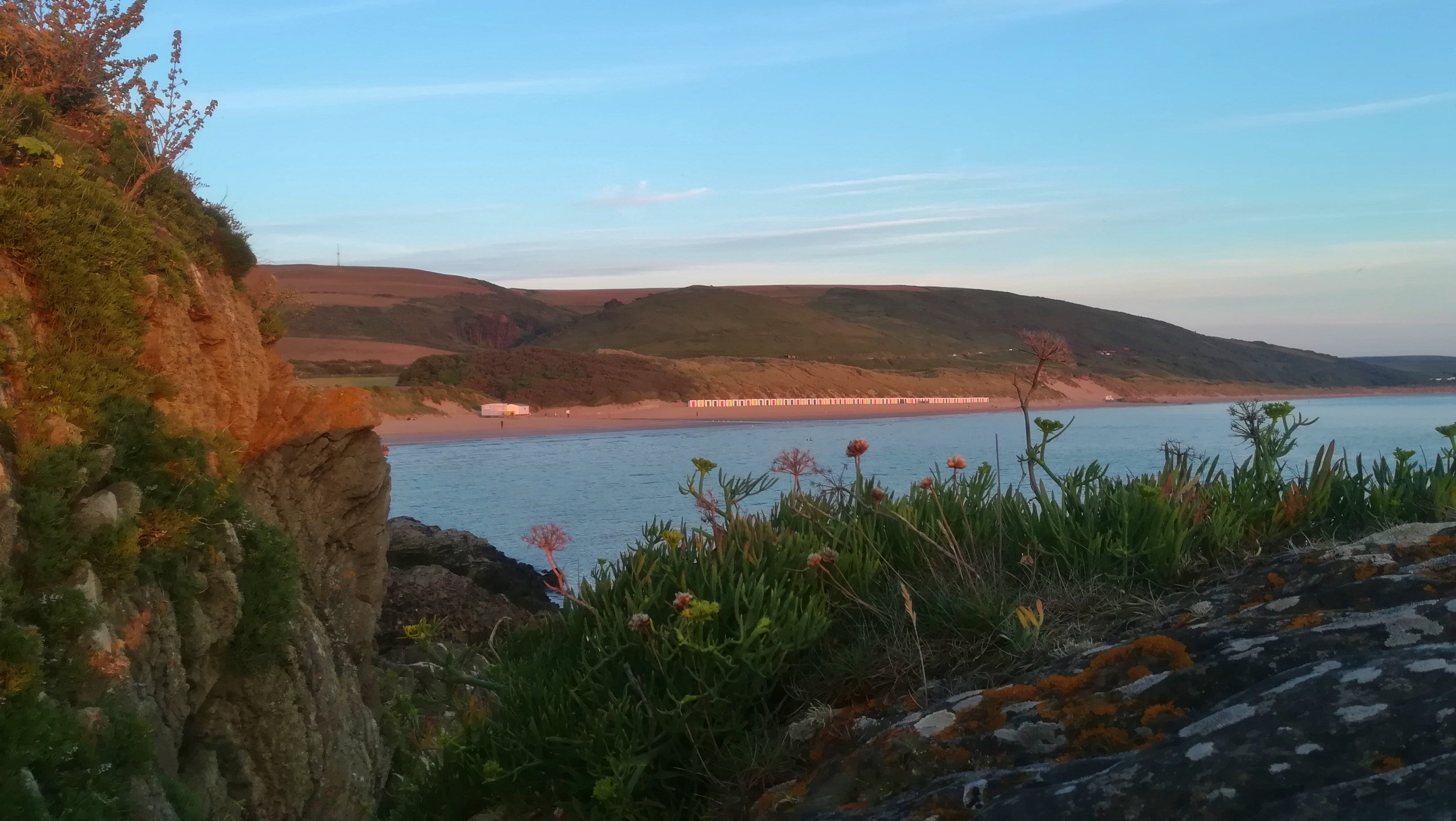 Woolacombe Bay Devon sunset