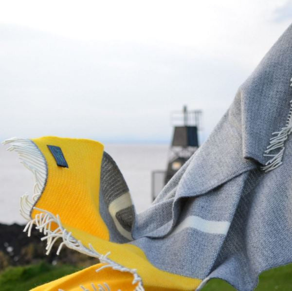 yellow blankets and throws to buy online at The British Blanket Company