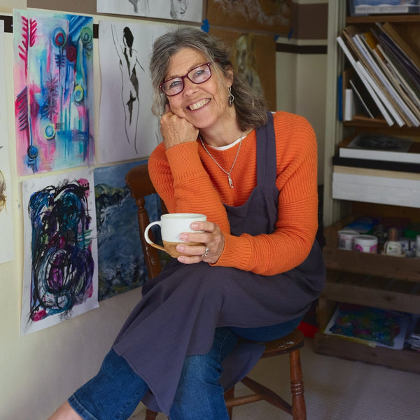 Somerset artist painting collaboration with The British Blanket Company
