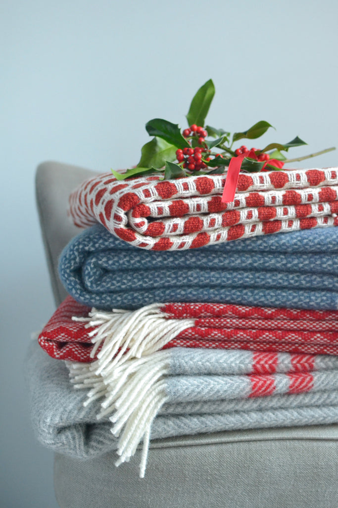 Christmas colour throws and blankets at The British Blanket Company