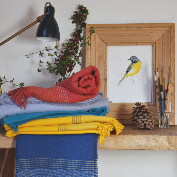 British Birds Special Edition wool blankets The British Blanket Company