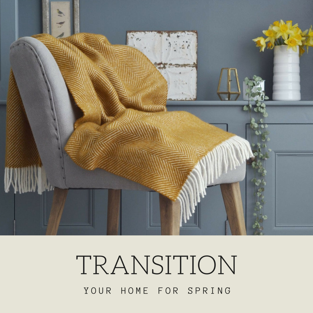 Transition your home for spring blog post from The British Blanket Company