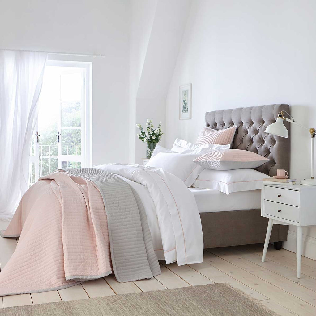 pink and grey bedroom inspiration