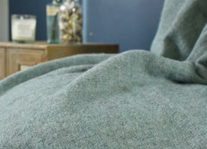 Muted Aqua and Grey Throw - buy at The British Blanket Company