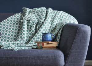 Sea Green Crossroads Throw - buy at The British Blanket Company