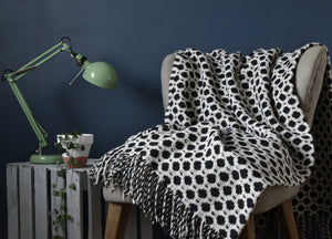 Black and White Crossroads Throw - buy at The British Blanket Company