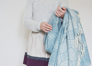 Petrol Blue Gemstone Throw - buy at The British Blanket Company