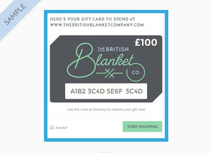 Gift Card - buy at The British Blanket Company