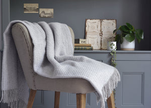 Glacier Grey Treetop Throw - buy at The British Blanket Company