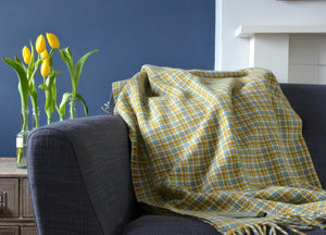 Glastonbury Check Festival Throw - buy at The British Blanket Company