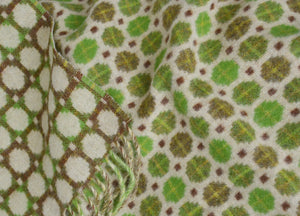 Lime Green Geo Merino Lambswool Throw - buy at The British Blanket Company