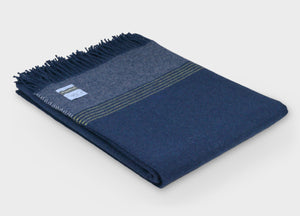 British Birds 'Blue Tit' Merino Lambswool Throw