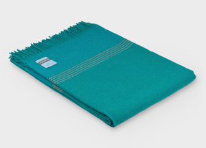 British Birds 'Kingfisher' Merino Lambswool Throw