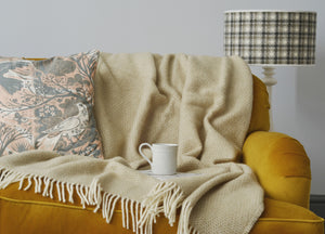Natural Oat Beehive Throw - buy at The British Blanket Company