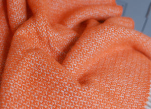 Orange and Grey Windmill Armchair Throw - buy at The British Blanket Company