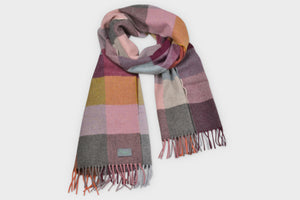Burnished Merino Wool Oversized Blanket Scarf