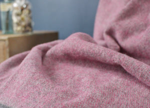 Muted Pink and Grey Throw - buy at The British Blanket Company