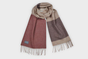 Autumn Brown Lambswool Scarf