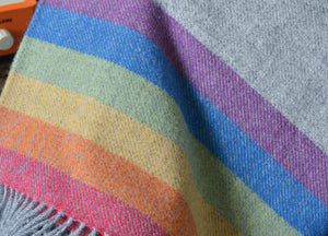Rainbow Panel Throw
