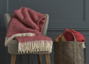 Red and Silver Windmill Throw - The British Blanket Company