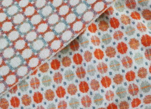 Saffron Orange Geo Merino Lambswool Throw - buy at The British Blanket Company