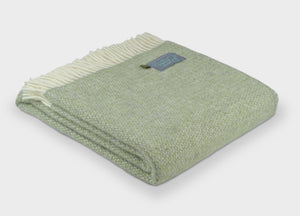 Sage Green and Grey Windmill Throw - The British Blanket Company