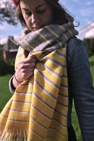Sunrise Merino Wool Oversized Blanket Scarf