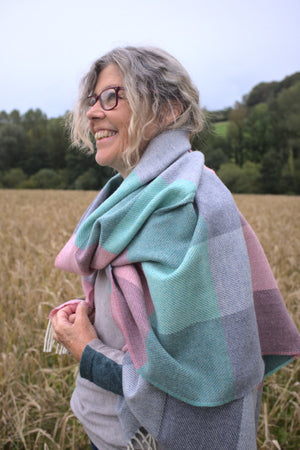 Chalky Merino Wool Oversized Blanket Scarf