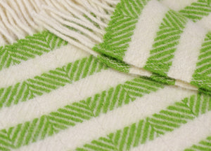 Green Sour Apple Stripe Throw - buy at The British Blanket Company