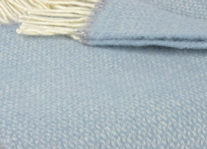 Duck Egg Blue and Grey Semaphore Throw - The British Blanket Company