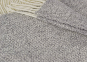 Soft Grey Windmill Throw - buy at The British Blanket Company
