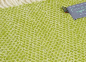 Kiwi Green Beehive Throw - buy at The British Blanket Company
