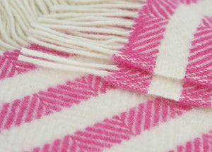Pink Candy Cane Stripe Throw