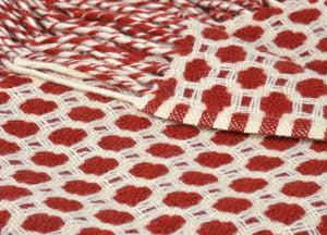 Rust Red Crossroads Throw - buy at The British Blanket Company