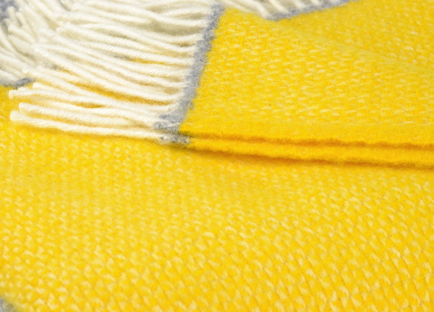bd1fcd70ac Yellow and Grey Semaphore Throw - buy at The British Blanket Company