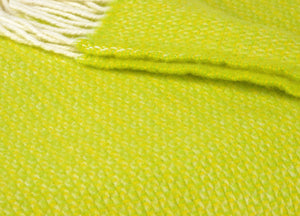 Zesty Yellow and Lime Windmill Throw - buy at The British Blanket Company